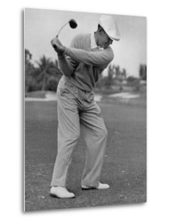 Golfer Ben Hogan, Dropping His Club at Top of Backswing