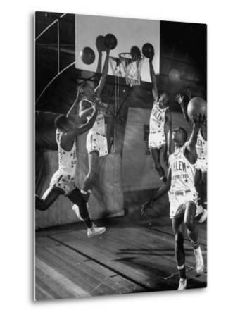 Harlem Globetrotters Playing in a Basketball Game