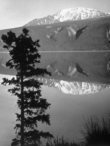Lake Kluane with Snow-Capped Mountains Reflected in Lake by J. R. Eyerman