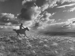 Michael Brennan on Ranch Horseback Riding by J. R. Eyerman