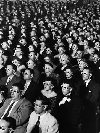 "Opening Night Screening of First Color 3-D Movie ""Bwana Devil,"" Paramount Theater, Hollywood, CA by J. R. Eyerman"