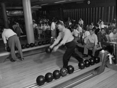 People Bowling at the Mcculloch Motors Recreation Building