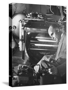 Physicist Dr. Carl D. Anderson at Inyokern Proving Grounds Doing Scientific Research by J. R. Eyerman