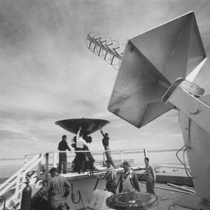 Radar and Telemetering Equipment to Track the X-15 During Supersonic Flight, at Edwards Air Base by J. R. Eyerman