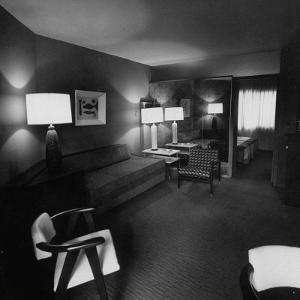 Room Where Actress Lana Turner's Daughter Stabbed Gangster Johnny Stompanato to Death by J. R. Eyerman