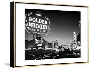 The Golden Nugget Gambling Hall Lighting Up Like a Candle by J^ R^ Eyerman