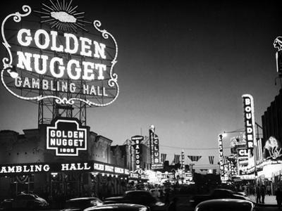 The Golden Nugget Gambling Hall Lighting Up Like a Candle by J. R. Eyerman