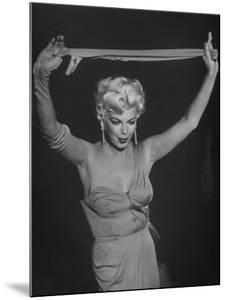 "TV Stripper Barbara Nichols in the Play ""The Untouchables"" by J. R. Eyerman"