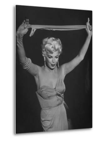 """TV Stripper Barbara Nichols in the Play """"The Untouchables"""""""
