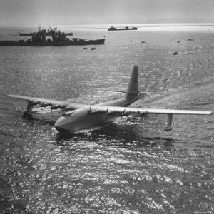 View of Plane Designed and Built by Howard R. Hughes by J. R. Eyerman