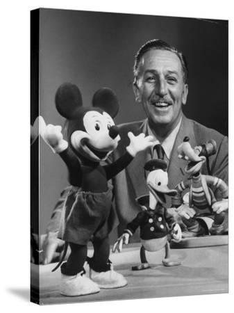 Walt Disney, of Walt Disney Studios, Posing with Some Famous Cartoon Characters