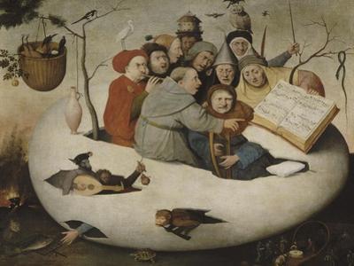 Le concert dans l'oeuf (Satire de l'alchimie symbolis�par l'oeuf philosophique) by J?r?me Bosch