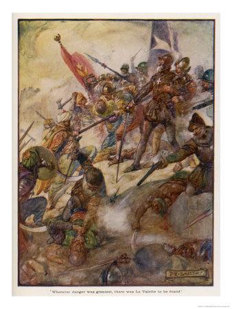 Jean de la Valette Defends the Island Against the Turks