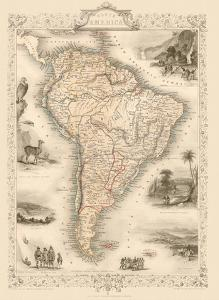 Map of South America by J. Rapkin