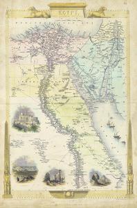 Vintage Map of Egypt by J^ Rapkin