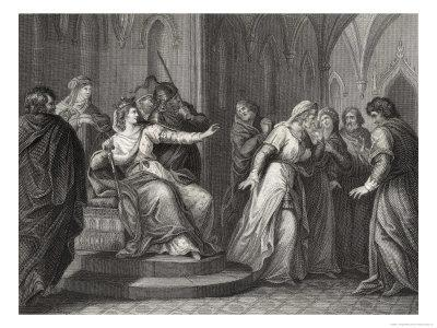 The Empress Matilda Daughter of Henry I Refuses the Plea of King Stephen's Wife to Release Him