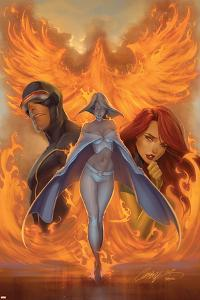 What if? Astonishing X-Men No.1 Cover: Emma Frost, Phoenix and Cyclops by J. Scott Campbell