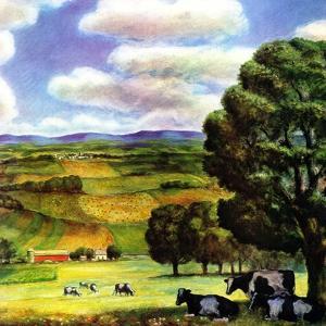 """""""Farm Landscape,""""April 1, 1942 by J. Steuart Curry"""