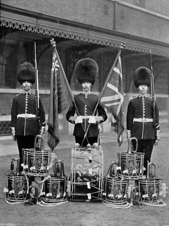 The Colours and Drums of the 2nd Grenadier Guards, 1896