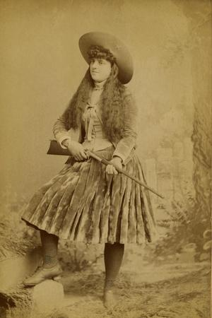 Female Wild West Sharpshooter With Rifle, 1889
