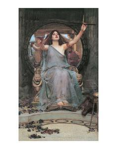 Circe Offering the Cup to Odusseus by J^W^ Waterhouse