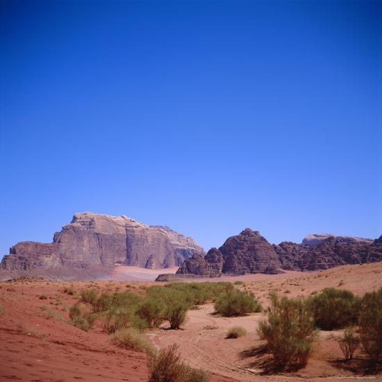 Jabal Rum, Desert Landscape in Southern Jordan, Wadi Rum, Jordan, Middle East-Christopher Rennie-Photographic Print