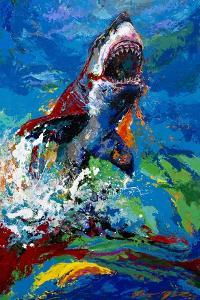 The Lawyer Breeching Great White Shark by Jace D. McTier
