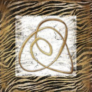 Abstract Gold Zebra by Jace Grey