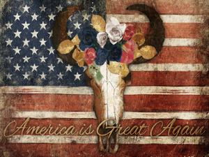 American Is Great Again Bull by Jace Grey