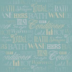 Bath Typography Teal by Jace Grey