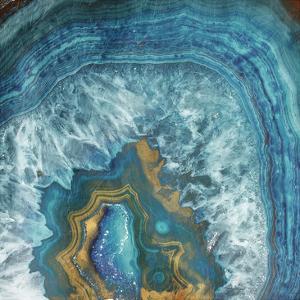 Gold Blue Flow by Jace Grey