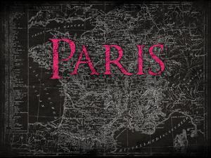 Paris Map Type by Jace Grey
