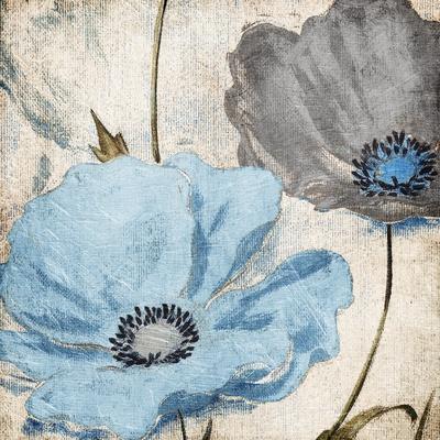 Soft Floral Blue Gray
