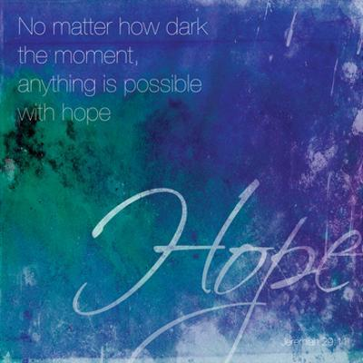 Watercolor Hope Quoted