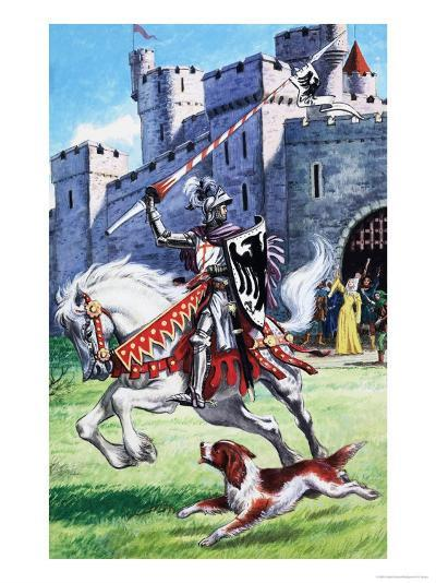 Jack and Jill and the Old Castle--Giclee Print