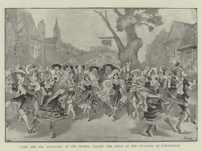 Jack and the Beanstalk at the Crystal Palace, the Dance of the Villagers of Cowslipdale--Giclee Print