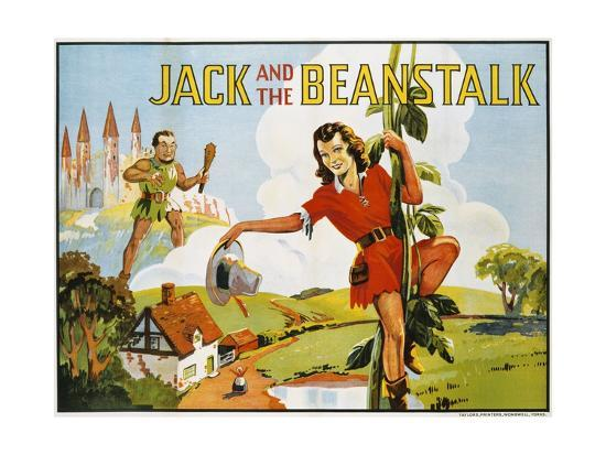 Jack and the Beanstalk Color Print--Giclee Print