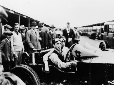 Jack Barclay in a Vauxhall Tt Car at Brooklands, Surrey--Photographic Print