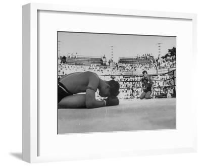 Buddhist Prayers at Beginning of the Prefight Ceremony of Muay Thai Boxing