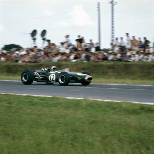Jack Brabham Racing a Brabham-Repco Bt19, French Grand Prix, Reims, France, 1966