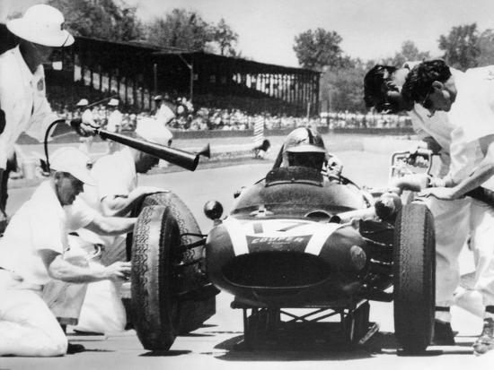 Jack Brabham's Cooper in the Pits, Indianapolis 500, Indiana, USA, 1961--Photographic Print
