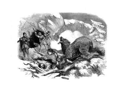 Jack Curling's Narrow Escape from a Ferocious Bear, 1855--Giclee Print
