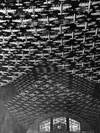 Model Airplanes on the Ceiling of Union Station, Chicago, 1943