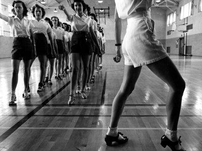 Tap Dancing Class at Iowa State College, 1942
