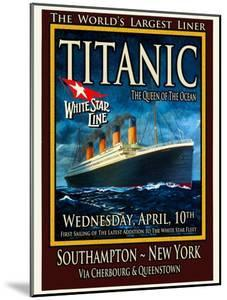 Titanic White Star Line Travel Poster 2 by Jack Dow
