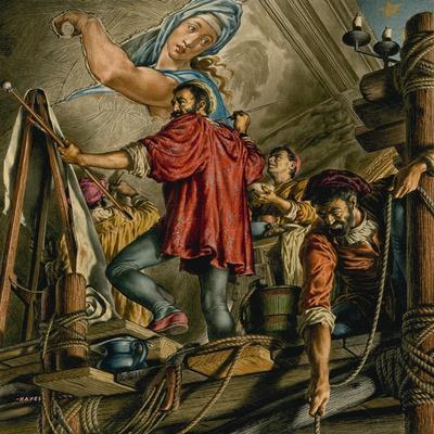 Michelangelo Buonarrotti Painting the Sistine Chapel