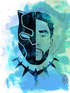 Black Panther Watercolor by Jack Hunter