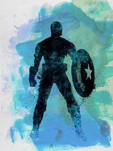 Captain America Watercolor by Jack Hunter