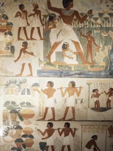 Paintings of Scenes of Everday Life in the Tomb of Nakht by Jack Jackson
