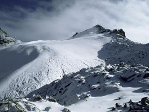 Point Lenana and Lewis Glacier, from Top Hut, Mount Kenya, UNESCO World Heritage Site, Kenya by Jack Jackson